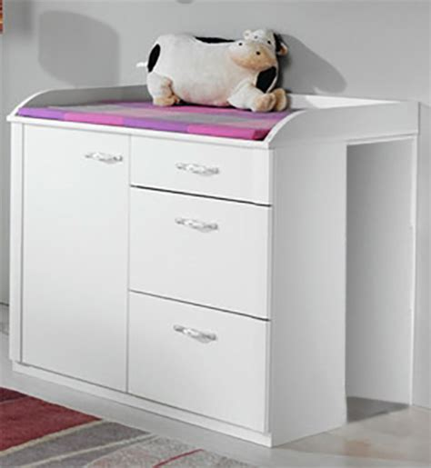 commode a langer pas cher commode a langer lilly blanc neige