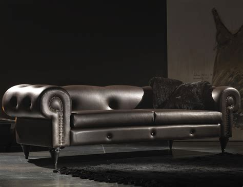 Italian Sofa Leather Nella Vetrina Aral Ara02 Italian Designer Brown Leather Sofa