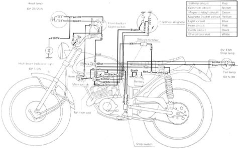 yamaha ht1 90 enduro motorcycle wiring schematics diagram