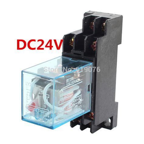Relay 8 Pin 10a Dc 24v Sakaguchi Mk2p I 10 sets lot ly2nj 24v dc coil power relay miniature relay dpdt 8 pins 10a 240vac ly2 hh62p ly2
