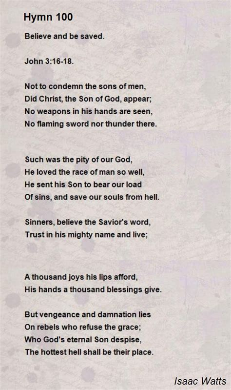 writing a letter of resignation hymn 100 poem by isaac watts poem 1748