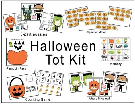 free printable preschool halloween activities halloween preschool kit fall halloween activities