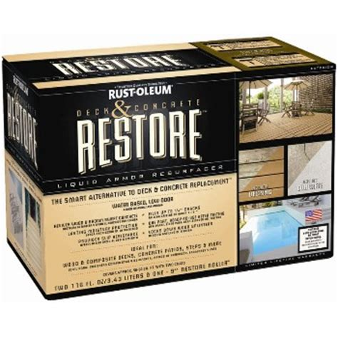 Restore Deck Liquid Armor Resurfacer by Buy The Rust Oleum 49004 Restore Deck Concrete Restore