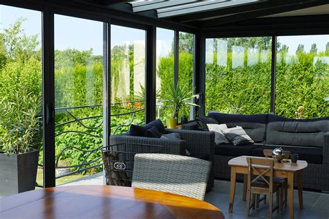 Une Veranda by Une V 233 Randa Pour Agrandir Salon Md Concept