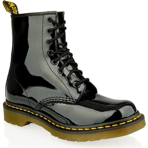Dr Martens 8 Leather mens dr martens 1460 8 eye lace patent smooth leather