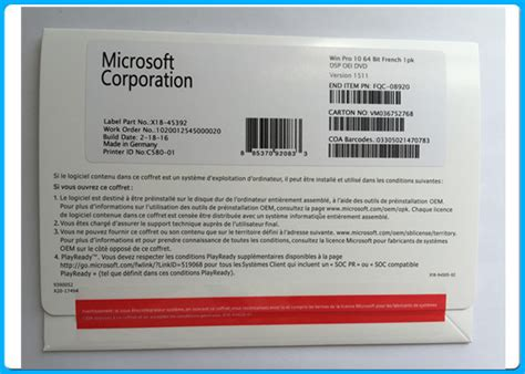 Windows Pro 10 32bit64bit language microsoft windows10 pro win10 oem 32bit