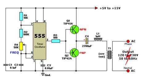 12vdc to 220vac inverter circuit using ic 555 koleksi