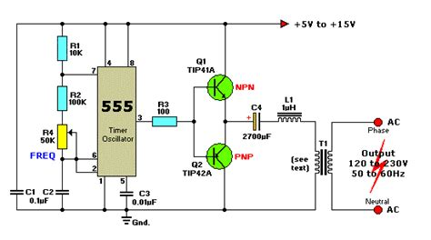 Pcb Inventer Travo Ferit gudang skema elektronik converter dc to ac