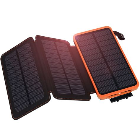 Lu Emergency Solar Cell solar charger hiluckey solar power bank 10000mah with 3