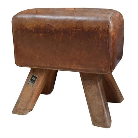 wooden horse bench wood and leather pommel horse bench for sale at 1stdibs