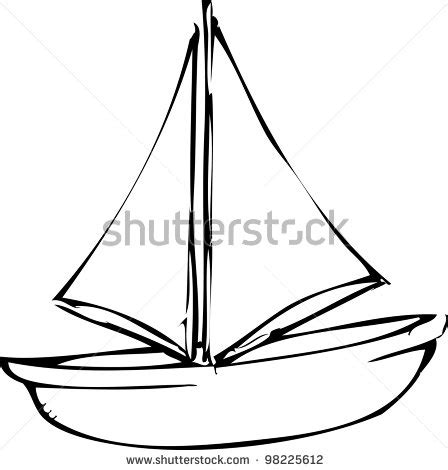 dinghy boat drawing gallery sailboat drawing vector