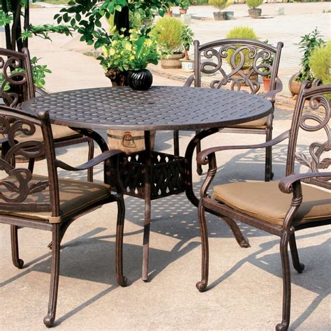 Cast Aluminum Patio Dining Set Darlee Santa 5 Cast Aluminum Patio Dining Set Shopperschoice