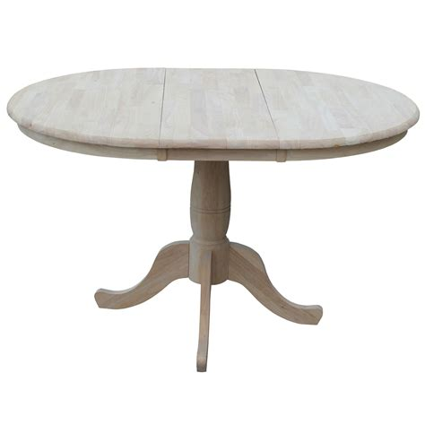 unfinished 36 inch extension dining table with 12