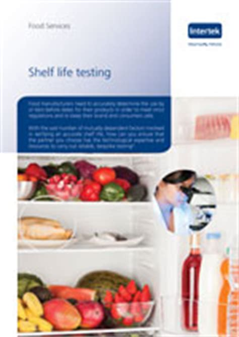 Shelf Testing by Food Sensory Analysis