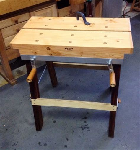 collapsible work bench collapsible workbench by doug lumberjocks com