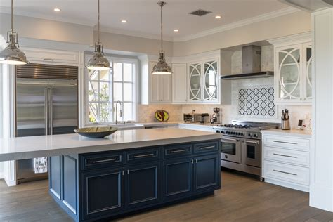 Transitional Kitchen Cabinets by Custom Painted Transitional Kitchen Cabinets Doopoco