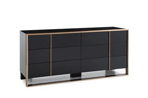 black dressers for bedroom nova domus cartier modern black brushed bronze dresser
