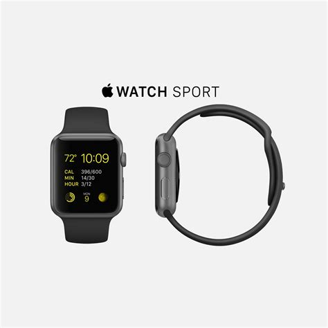 Apple Sport 38mm 7000 Series apple sport space gray aluminum with black