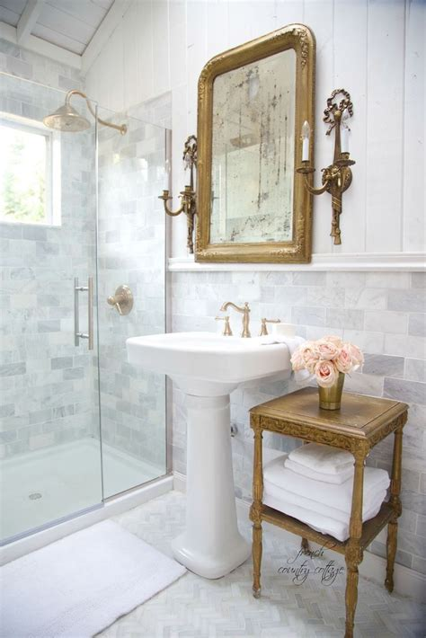 french cottage bathroom renovation reveal home ideas
