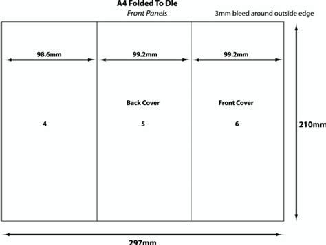 a4 half fold card template copy direct digital print hints and tips a4 folded dle