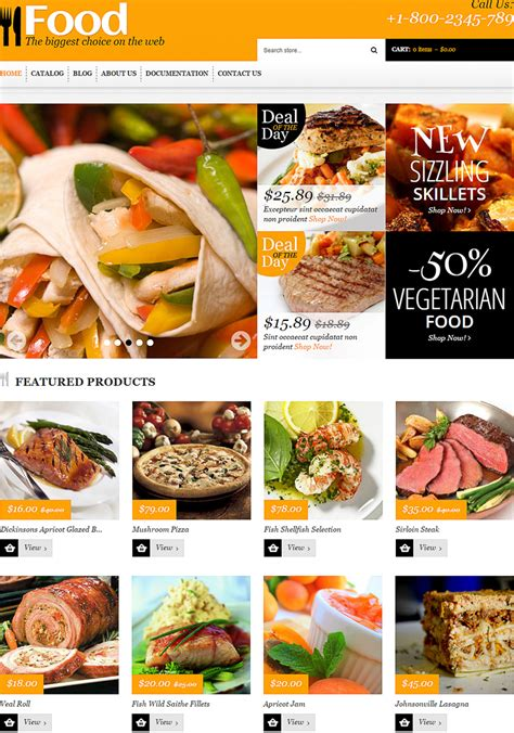 shopify grocery themes 15 new ecommerce templates themes for foods beverages