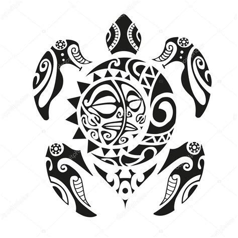 turtle tattoo  stile maori tats schildkroete