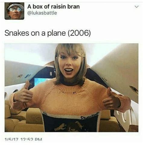 Snakes On A Plane Meme - a box of raisin bran alukasbattle snakes on a plane 2006