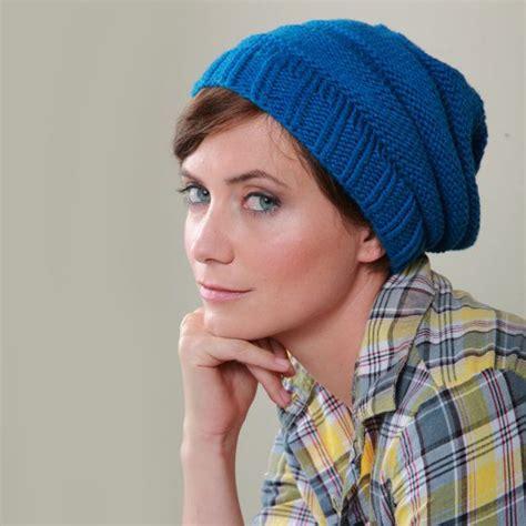 free pattern easy knit hat easy knit hat free pattern she s crafty pinterest