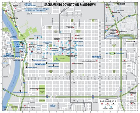 sacramento ca map sacramento downtown map
