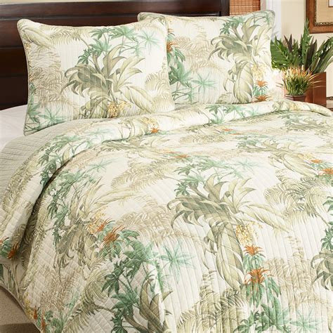 tropical coverlet tommy bahama rainforest tropical quilt set from