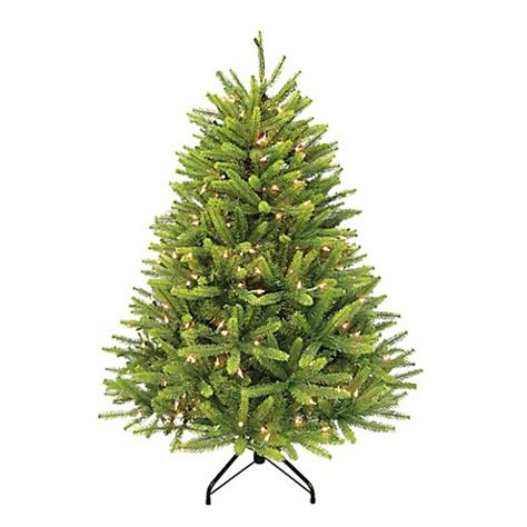 puleo christmas trees puleo international 4 5 foot washington spruce pre lit artificial tree with clear