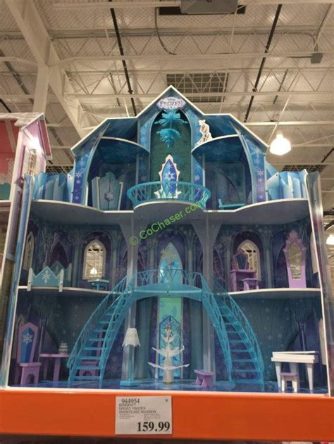 frozen play house kidkraft disney frozen snowflake mansion dollhouse costcochaser