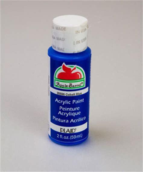 apple barrel matte cobalt blue acrylic paint 2 oz bottle