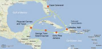 Caribbean Cruise Map by Pics Photos Map Of Caribbean Cruise