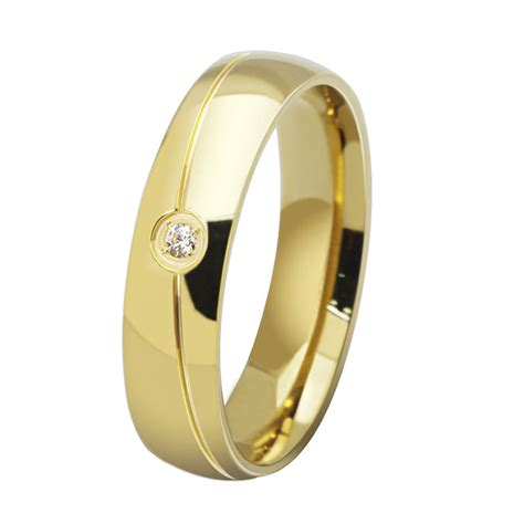 europe western 18k gold plated stainless steel his and
