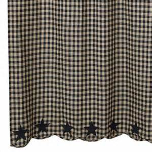 Black Check Curtains Country Scalloped Shower Curtains Black Check 72 Quot X 72 Quot
