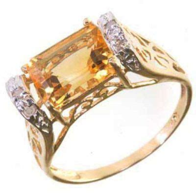 10kt yellow gold ring gemstone featuring 9x7 mm genuine