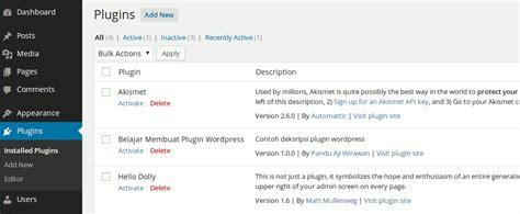 membuat plugin jne wordpress belajar membuat plugin di wordpress panduaji net