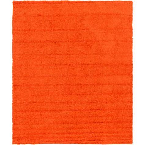Orange Shag Area Rug Unique Loom Solid Shag Tiger Orange 12 Ft X 15 Ft Area Rug 3127931 The Home Depot