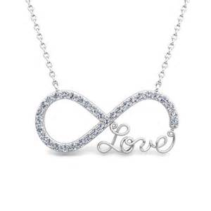 Infinity Diamonds Infinity Necklace In 18k Gold Pendant