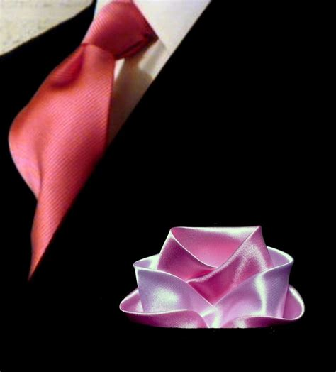 pocketsquare folded into a rose pocket squares
