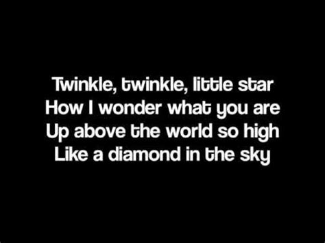 twinkle testo twinkle twinkle with lyrics