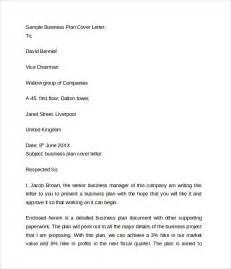 Cover Letter Business Plan by Business Cover Letter 8 Free Sles Exles Format