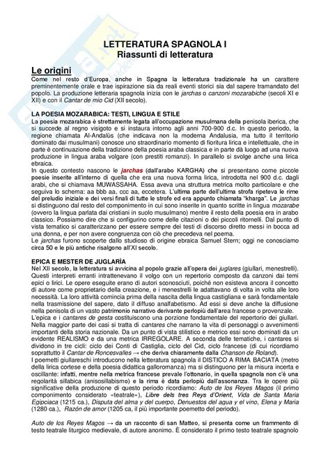 testi in spagnolo riassunto esame spagnolo prof tomassetti libro