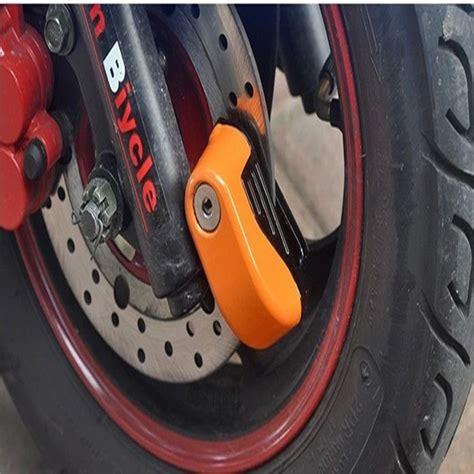 Gembok Cakram Motor Dan Sepeda Dengan Alarm Hitam Murah gembok alarm cakram motor dan sepeda pengaman tambahan