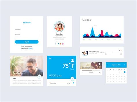 google design ui kit 25 material design website psd templates ui kits