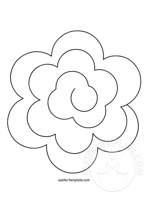 Felt Flower Template Printable felt flower spiral templates easter template