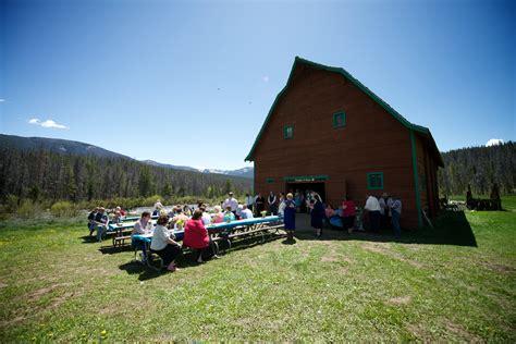 table grand lake aa barn grand lake colorado outdoor summer wedding barn