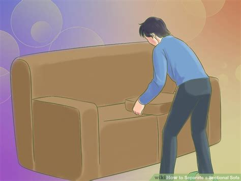 how to separate a sectional sofa how to separate a sectional sofa 10 steps with pictures