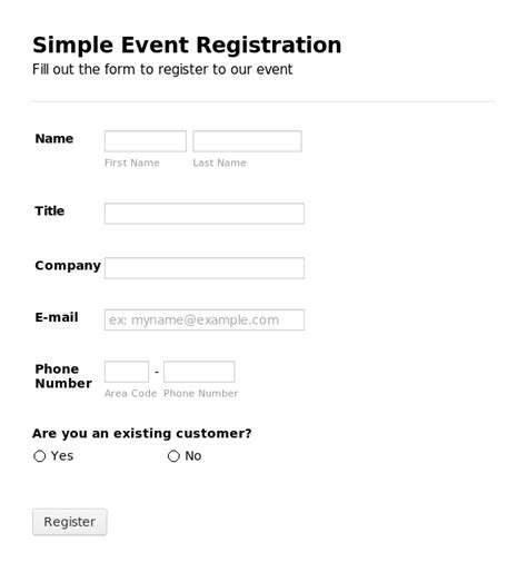 event registration form template registration form template peerpex
